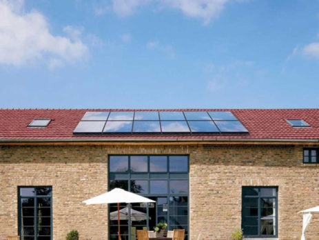 Energía solar térmica forzada