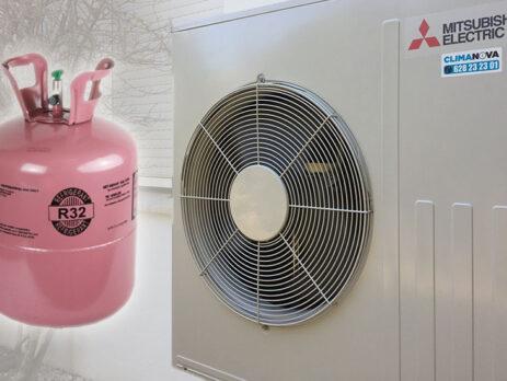 aire acondicionado con r32