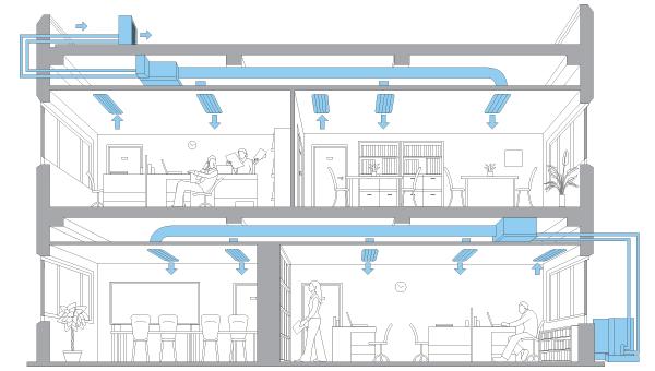 aire acondicionado conductos mitsubishi